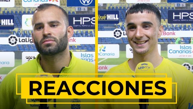 REACCIONES | Declaraciones de Jesé y Rober tras el partidazo ante el Lugo.
