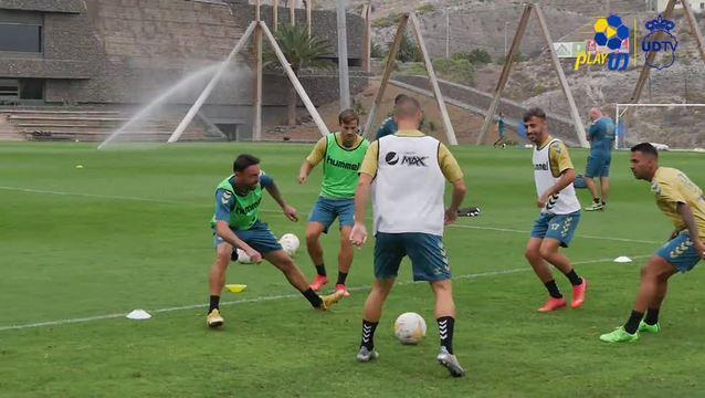 Último entrenamiento en casa antes de partir a Almería