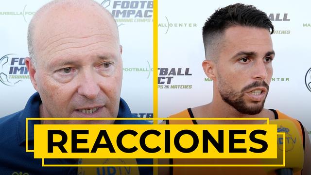 REACCIONES | Nos atiende Pepe Mel y Kirian Rodríguez tras la victoria